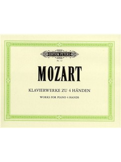 W.A. Mozart: Works For Piano 4 Hands Libro | Piano Dúos