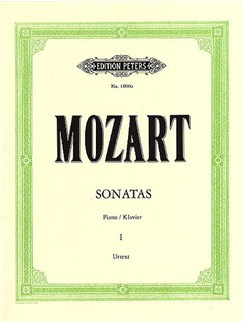 W.A. Mozart: Sonatas For Piano Volume 1 (Edition Peters Urtext) Books | Piano