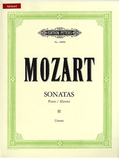 W.A. Mozart: Sonatas Volume Two (Edition Peters Urtext) Books | Piano