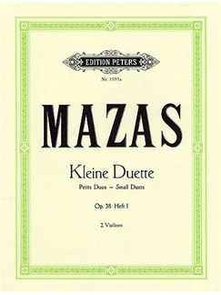 Jacques F. Mazas: Small Duets For Two Violins Op. 38 Volume 1 Books | Violin (Duet)