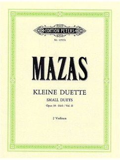 Jacques F. Mazas: Small Duets For Two Violins Op. 38 Volume 2 Books | Violin (Duet)