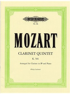 W.A. Mozart: Clarinet Quintet KV 581 (Clarinet/Piano) Books | Clarinet, Piano Accompaniment