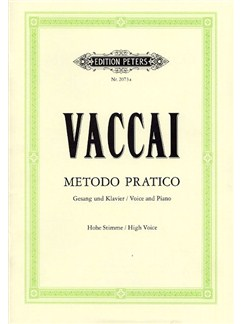 Nicola Vaccai: Metodo Pratico (High Voice) Bog | Høj stemme, Klaverakkompagnement, Sopran, Tenor