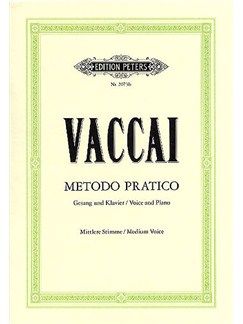 Nicola Vaccai: Metodo Pratico (Medium Voice) Books | Medium Voice, Piano Accompaniment