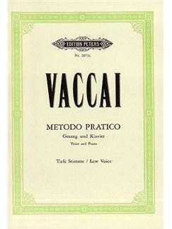 Nicola Vaccai: Metodo Practico - (Low Voice) Books | Low Voice, Bass Voice, Mezzo-Soprano, Alto