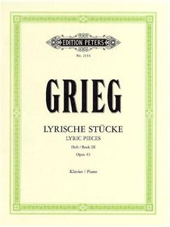 Edvard Grieg: Lyric Pieces Book 3 Op.43 Books | Piano