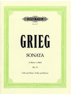 Edvard Grieg: Cello Sonata In A Minor Op.36 Books | Cello, Piano Accompaniment