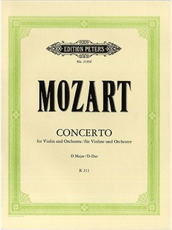 W.A. Mozart: Concerto In D For Violin And Piano Books | Violin, Piano Accompaniment