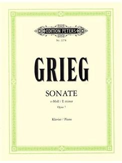 Edvard Grieg: Sonata In E Minor Op.7 Books | Piano