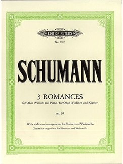 Robert Schumann: Three Romances For Oboe Op.94 Books | Oboe, Piano Accompaniment