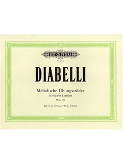Anton Diabelli: Melodious Exercises Op.149 (Paino Duet) Books | Piano Duet