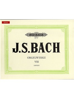 J.S. Bach: Organ Works Vol.8 (Peters Edition) Books | Organ