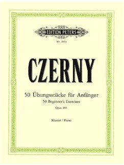 Carl Czerny: 50 Beginner's Exercises Op.481 Books | Piano