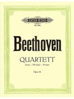Ludwig Van Beethoven: Piano Quartet In E Flat Op.16 (Score/Parts) Books | Violin, Viola, Cello, Piano