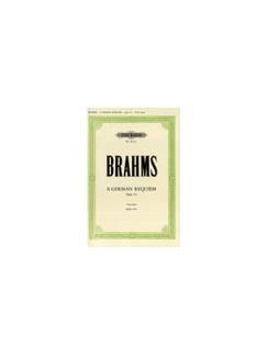 Johannes Brahms: A German Requiem Op.45 - English Vocal Score Books | SATB, Piano Accompaniment
