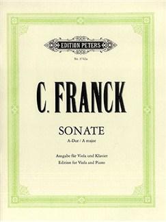 César Franck: Sonata In A Major - Viola Libro | Viola, Acompañamiento de Piano