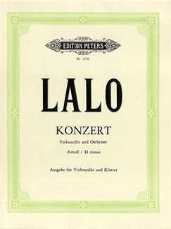 Edouard Lalo: Konzert D-Moll Fur Violoncello Und Orchester (Cello And Piano) Books | Cello, Piano Accompaniment