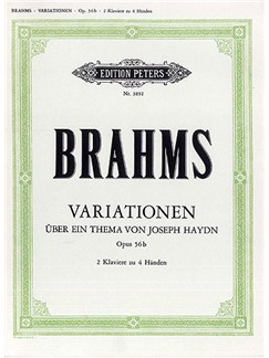 Johannes Brahms: St. Anthony Chorale And 8 Variations Op. 56b For Two Pianos Libro | Dos Pianos, Piano Dúos