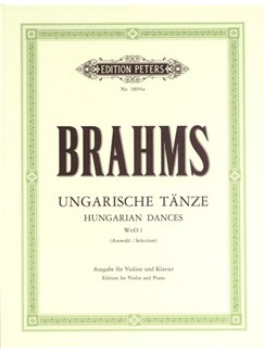 Johannes Brahms: Hungarian Dances WoO 1 Nos.1–12 Books | Violin, Piano Accompaniment
