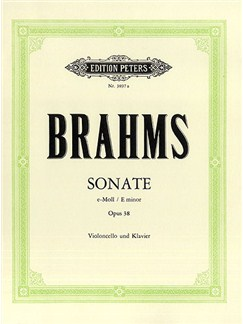Johannes Brahms: Sonate E-Moll Books | Cello, Piano Accompaniment