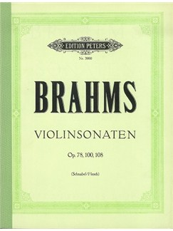 Johannes Brahms: Violin Sonatas (Complete) - Violin/Piano Book Books | Violin, Piano Accompaniment