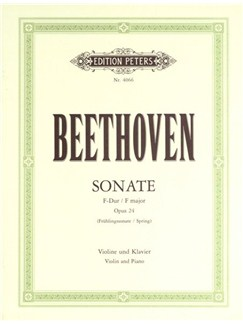 Ludwig Van Beethoven: Sonata In F Op.24 'Spring' (Peters Edition) Books | Violin, Piano Accompaniment
