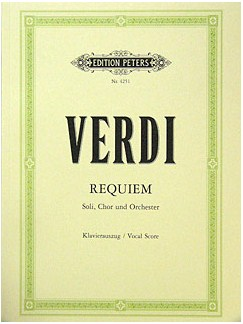 Guiseppe Verdi: Requiem Books | SATB, Piano Accompaniment