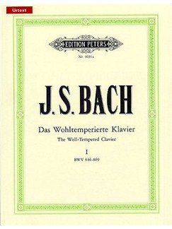 J.S. Bach: The Well-Tempered Clavier - Book 1 (Edition Peters Urtext) Books | Piano, Harpsichord