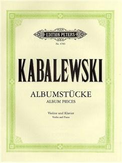 Dmitri Kabalevsky: Album Pieces Books | Violin, Piano Accompaniment