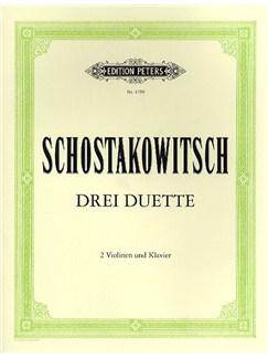 Dmitri Shostakovich: Three Duets For 2 Violins And Piano Books | Violin (Duet), Piano Accompaniment