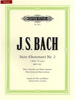 J.S. Bach: Suite No.2 In B Minor BWV 1067 - Flute/Piano (Edition Peters Urtext) Books | Flute, Piano Accompaniment