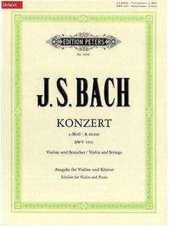 J.S. Bach: Violin Concerto No. 1 In A Minor BWV 1041 Books | Violin, Piano Accompaniment