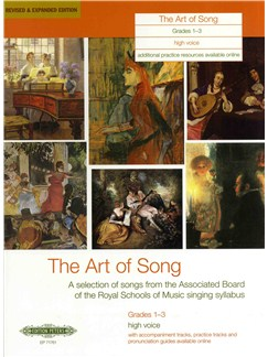 The Art Of Song: Grade 1-3 (High Voice) - Revised Edition Books | High Voice, Piano Accompaniment