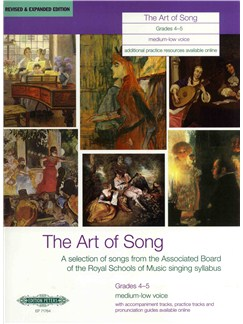The Art Of Song: Grade 4-5 (Medium-Low Voice) - Revised Edition Bog | Medium stemme, Stemme, Dyb stemme, Klaverakkompagnement, Baryton Stemme, Alt, Mezzosopran