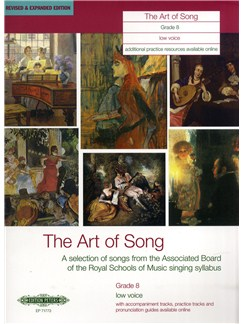 Art Of Song Grade 8 (Low Voice) - Revised Edition Books | Low Voice, Piano Accompaniment