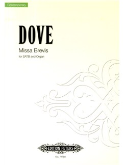 Jonathan Dove: Missa Brevis - SATB/Organ Books | SATB, Organ Accompaniment