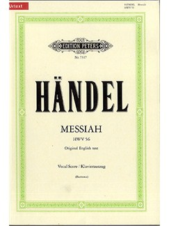 G.F. Handel: Messiah (Peters Urtext Edition) Books | SATB, Keyboard