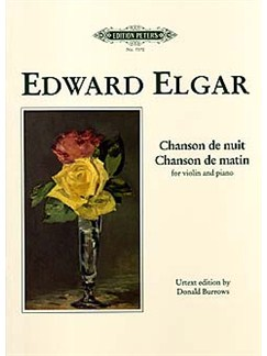 Edward Elgar: Chanson De Nuit/Chanson De Matin Op.15 - Violin/Piano (Edition Peters Urtext) Books | Violin, Piano Accompaniment
