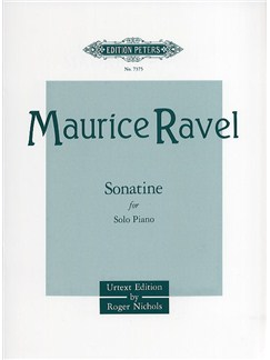 Maurice Ravel: Sonatine For Piano (Edition Peters Urtext) Books | Piano