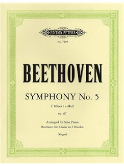 Ludwig Van Beethoven: Symphony No.5 In C Minor Op.67 (Piano Solo) Books | Piano