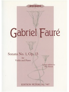Gabriel Faure: Sonata No. 1 Op. 13 For Violin And Piano Books | Violin, Piano Accompaniment