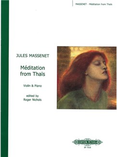 Jules Massenet: Meditation From Thais (Violin/Piano) Livre | Violon, Accompagnement Piano