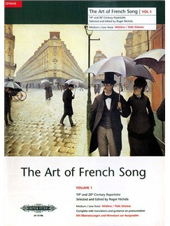 The Art Of French Song Volume 1 (Medium-Low Voice) Books | Medium Voice, Low Voice, Piano Accompaniment