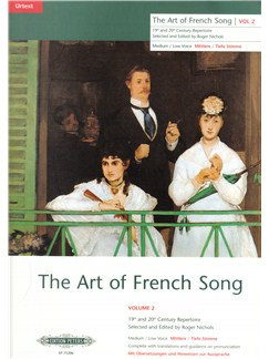 The Art Of French Song Volume 2 (High Voice) Books | High Voice, Piano Accompaniment