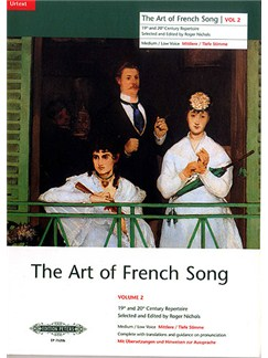 The Art Of French Song Volume 2 (Medium-Low Voice) Books | Medium Voice, Low Voice, Piano Accompaniment