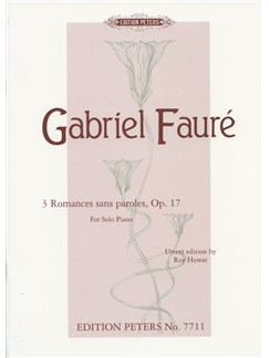 Gabriel Faure: 3 Romances Sans Paroles Op.17 For Solo Piano Books | Piano