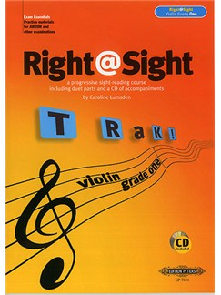 Caroline Lumsden: Right@Sight Violin Grade One Books and CDs | Violin (Duet)