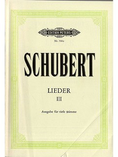 Franz Schubert: Lieder Volume 3 (Low Voice) Books | Low Voice, Piano Accompaniment