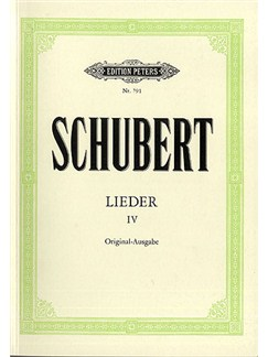 Franz Schubert: Lieder Volume 4 (Original Keys) Books | Voice, Piano Accompaniment