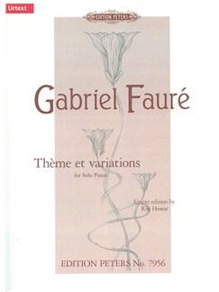Gabriel Fauré: Thème Et Variations Op.73 Books | Piano
